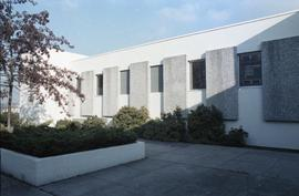 Exterior of Broadcast Centre and patio area, 1980s; currently SE10