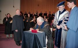 Robert (Bob) George receiving an Honorary Doctorate of Technology; Elder Advisor, BCIT [10 of 19 ...