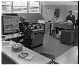 1967- Business Management Technology ; BCIT students working with the IBM 360