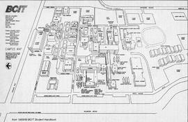 Campus Map from BCIT Student Handbook 1988-1989