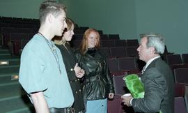 Venture students meet Tony Parsons, April 1995 [10 of 12 photographs]