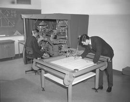 Survey, 1968; John Greenfield and Lloyd Hume using a stereo plotter (Wild A-8)