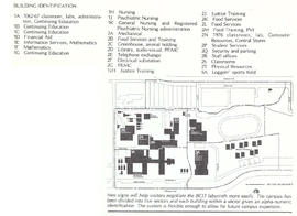 Campus Sign Program map from BCIT Developments January 24, 1979