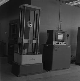 BCIT Materials Testing Lab; Tinius-Olsen compression and tension, 20,000 range