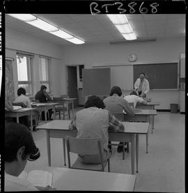 BCVS image of Basic Training Skills Development (BTSD) students sitting at desks in a classroom w...