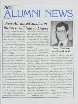 BCIT Alumni Association Newsletter 1990 Spring BCIT Alumni News