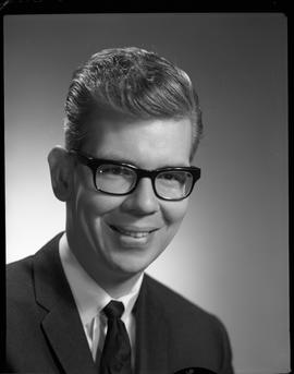 Crandall, Bert, Library Clerk, Staff portraits 1965-1967 (E) [1 of 3 photographs]