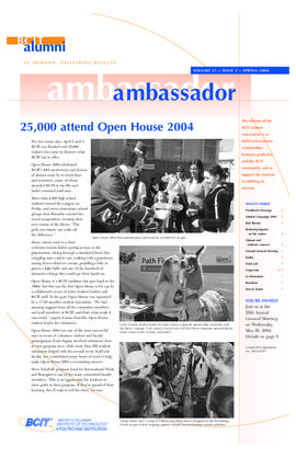 BCIT Alumni Association Newsletter 2004 Spring Alumni Ambassador