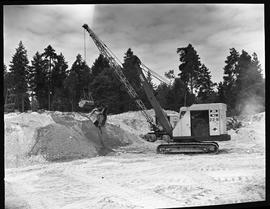 Heavy duty equipment operator, Nanaimo ;  Bycyrus Erie 3/4 yd. excavator ; another excavator in b...