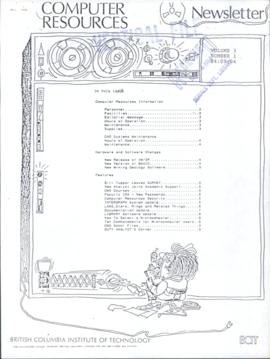 BCIT Computer Resources Newsletter, vol.3, no.1, 1984-09-04
