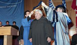 Robert (Bob) George receiving an Honorary Doctorate of Technology; Elder Advisor, BCIT [1 of 19 p...