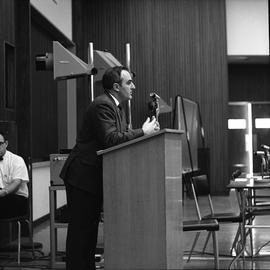 CVA Convention, 1969 ; man standing at a podium [4 of 6]