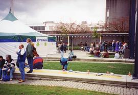 Jackie Azar - people eating and socializing at the 1994 BCIT Open House