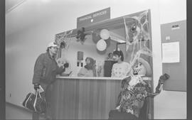 Financial Services staff dressed as a knight, cow [4 of 6 photographs]