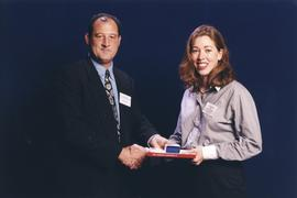 BCIT Alumni Association Award, June 23, 1999; Anna Richter, presented by Scott Gray, VP, BCIT Alu...