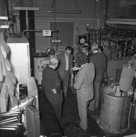 BCIT Programs Forestry Technology ; group of men standing in a mechanical room