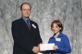 BCIT Alumni Association Entrance Awards, Oct. 27, 1999; Tiffany Dolan, presented by Kazamir Falco...