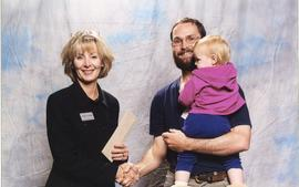 BCIT Faculty & Staff Association Scholarship, Nov. 7, 2001; Alain Boisclair Joly, presented b...