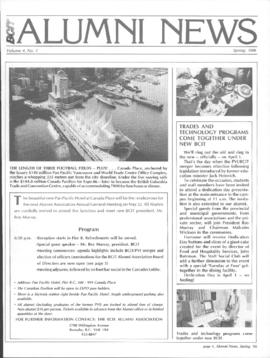 BCIT Alumni Association Newsletter 1986 Spring BCIT Alumni News