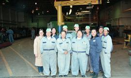 Pre-trade Aboriginal women; welding, group shot of students wearing uniforms [3 of 8 photographs]