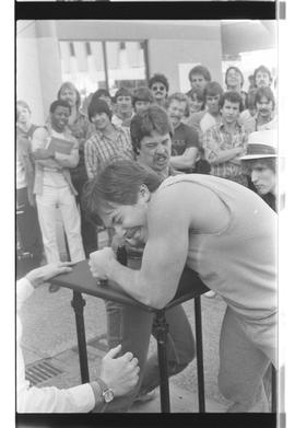 Arm wrestling, students