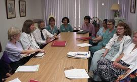 Health part-time, Hemodialysis, St. Paul's Hospital, meeting, people around a large table [3 of 7...