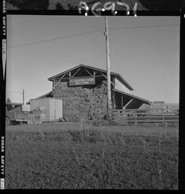 BC Vocational School image of a hay barn at Mile Zero Farm in Dawson Creek, BC [1 of 2 photographs]