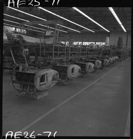 British Columbia Vocational School image of aircraft engines in the hangar [2 of 2 photographs]