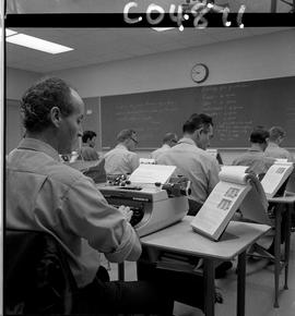 BC Vocational School Commercial Program; students typing (photograph 2 of 5)