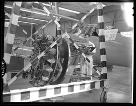British Columbia Vocational School image of Aeronautics students working on an aircraft and aircr...