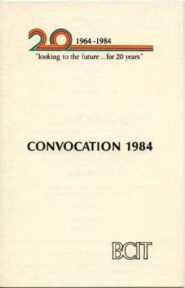 BCIT Convocation 1984; program