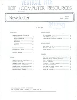 BCIT Computer Resources Newsletter, vol.4, no.1, 1985-09-03