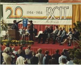 British Columbia Institute of Technology - Twenty Year Celebration, September 1984 - Platform gue...