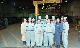 Pre-trade Aboriginal women; welding, group shot of students wearing uniforms [2 of 8 photographs]