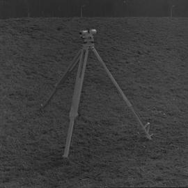 Survey, 1971; a level on a tripod on a hill [4 of 4]