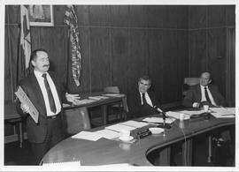 Event photograph; Left to right: Mario Mazziolli, Roy Murray, Fleming Sondergaard (BCIT Board of ...