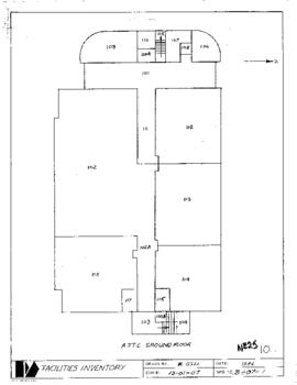 NE25, Facilities inventory Burnaby Bldg. no. 10, A.T.T.C., floor plans for three floors, 1984