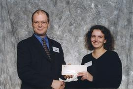BCIT Alumni Association Award, Oct. 27, 1999; Catherine Costantini, presented by Kazamir Falconbr...