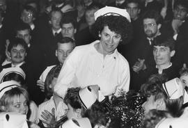 Convocation, January 1987; Nursing graduate in audience