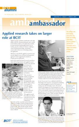 BCIT Alumni Association Newsletter 2005 Spring Alumni Ambassador