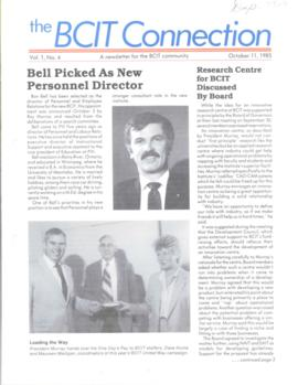 BCIT Connection, vol. 1, no. 4, 1985-10-11