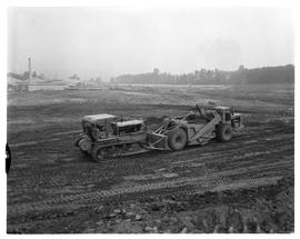 Early construction of BCIT campus and buildings and IAT (?) buildings [2 of 4 photographs]