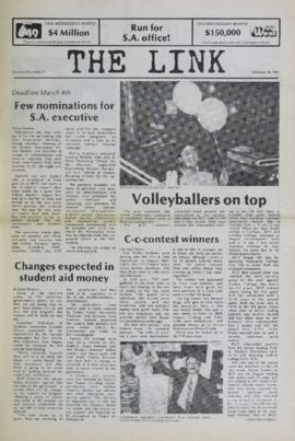 The Link Newspaper 1987-02-18