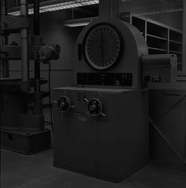 BCIT Materials Testing Lab; 1B Wiedemann-Baldwin compression and tension testing machine, 120,000...