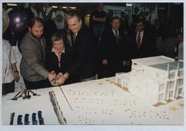 Campus Centre Official Opening, cutting of the cake - November 1, 1995