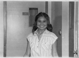 Lynne Terbasket, the first female Indigenous graduate of the BCIT radio option; photograph used i...