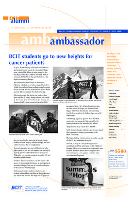 BCIT Alumni Association Newsletter 2004 Fall Alumni Ambassador