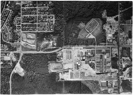 Aerial Photograph of BCIT and BCVS. Vertical Air photo. Burnaby Campus ca. 1968