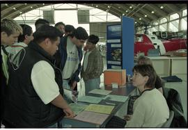 Aviation Open House 1996; crowd at booth [1 of 2 photographs]