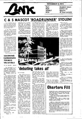 The Link Newspaper 1972-11-09
